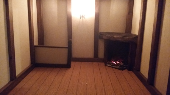 "Fire in place in ""bedroom"""